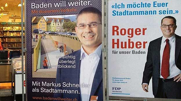 Die FDP tritt definitiv an für den zweiten Wahlgang der Badener Stadtammann-Wahl.