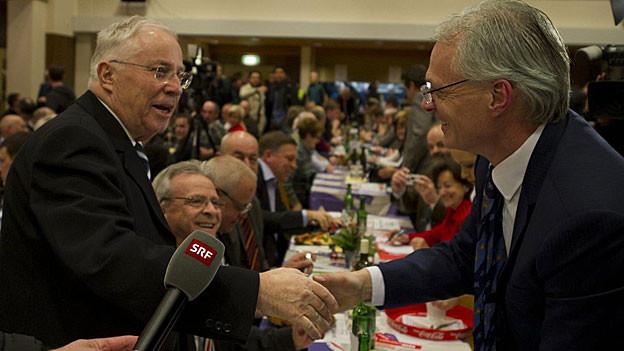 Die Aargauer Volkspartei sprach sich gegen SVP Nationalrat Blocher aus