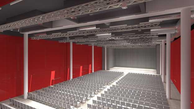 Visualisierung des Campussaals.
