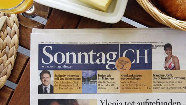 «Schweiz am Sonntag» heisst die neue Zeitung