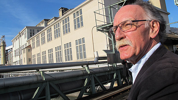 Der Riedholzer Gemeindepräsident Peter Kohler hat noch viel Arbeit vor sich, damit das Borregaard-Areal wieder lebt.