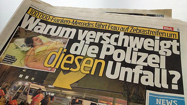 Fette Schlagzeilen zu einem Unfall in Wohlen: Die Polizei dementiert alle Vorwürfe im Artikel.