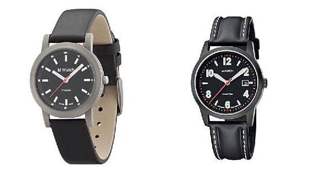 Links eine «M-Watch» der Migros, rechts ein Modell von Mondaine.