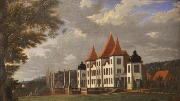 Historisches Gemälde von Schloss Waldegg
