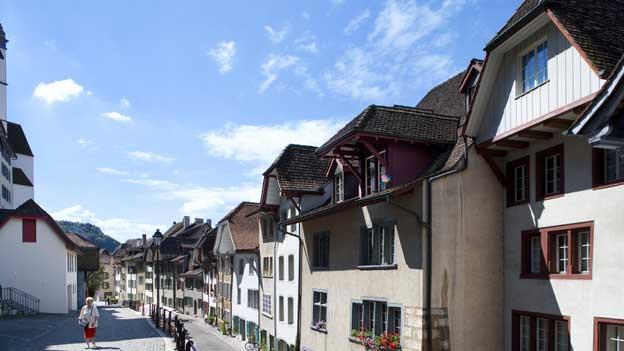 Die Altstadt von Aarau.