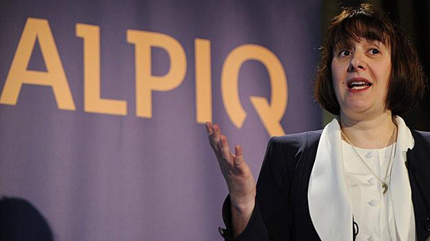 Alpiq-Chefin Jasmin Staiblin findet die Quartalszahlen «solide», trotzdem rechnet sie fürs Gesamtjahr mit einem Verlust.