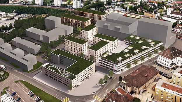 Visualisierung des neuen Lenzburger Quartiers «Lenz»