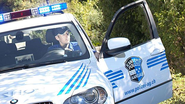 Die Aargauer Polizei suchte stundenlang nach der toten Frau.