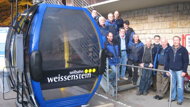 Die Belegschaft der Seilbahn Weissenstein AG wartete gespannt auf das grüne Licht für die neuen Gondeln.