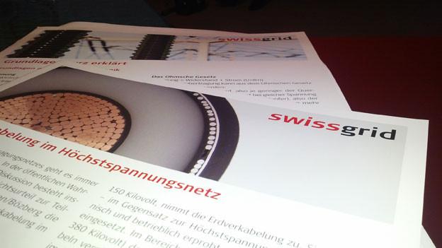 Swissgrid stellte am Donnerstag das Projekt für eine unterirdische Hochspannungsleitung vor.