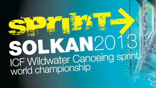 Logo der Kanu Weltmeisterschaften in Solkan.
