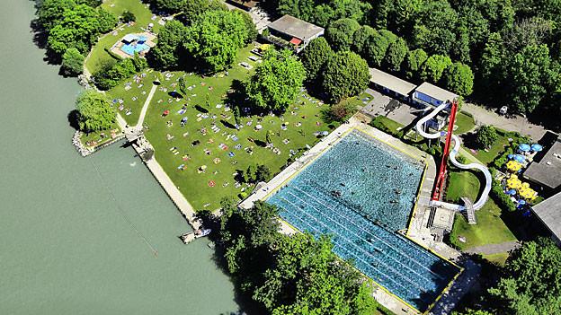 Das Rheinfelder Schwimmbad wurde 1933 gebaut und steht unter Schutz.