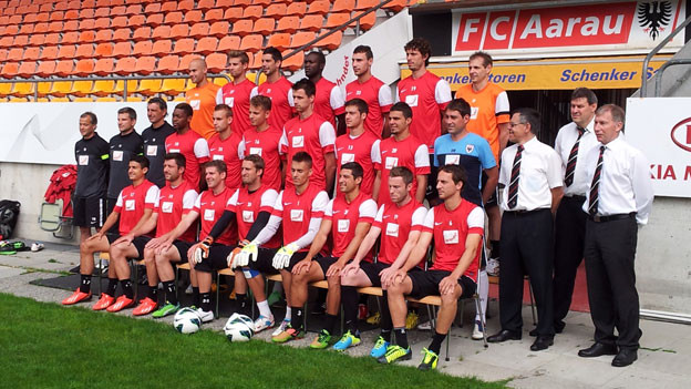 So sieht die Mannschaft des FC Aarau in der kommenden Saison 2013/2014 aus.