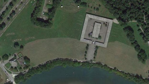 Das Truppenlager (Viereck) auf dem Gelände des Waffenplatzes Bremgarten wird zur Unterkunft für 150 Asylbewerber.