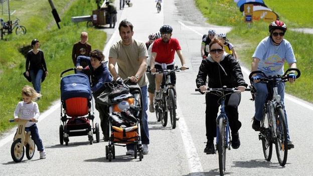 Radfahrer, Fussgänger und Inlineskater werden am Sonntag in der Region Brugg das Strassenbild dominieren.