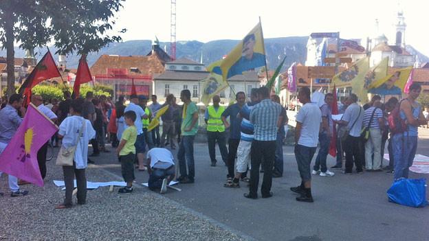 Demonstration in Solothurn für Asylbewerber: kein Grossaufmarsch.