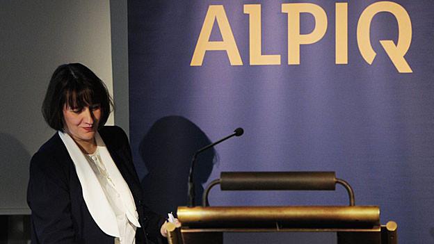 Alpiq-Chefin Jasmin Staiblin durfte seit Langem wieder einmal schwarze Zahlen präsentieren, wenn auch mässig gute.