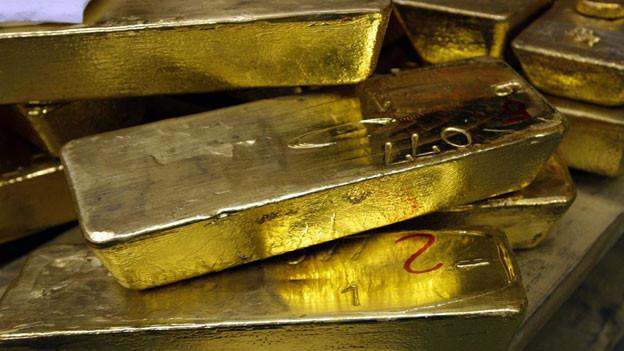 Ein-Kilogramm Goldbarren im Lager einer Goldverarbeitungsfirma. In Klingnau wurden gar 2,5 Kilogramm Gold gefunden.