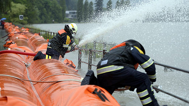 In Wallbach haben die mobilen Hochwassersperren im Juni die Bewährungsprobe bestanden.