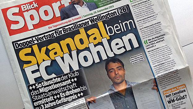 Die grossen Schlagzeilen im «Blick» zum FC Wohlen.