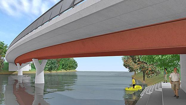 Neue Gnadenthal-Brücke bei Stetten