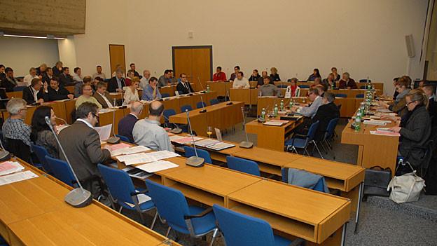 Ist an Sitzungen häufig nicht ganz gefüllt: Der Saal des Oltner Gemeindeparlamentes.