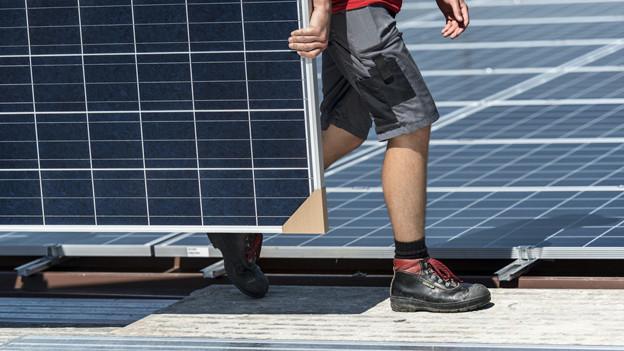 Immer mehr Solarmodule werden verbaut