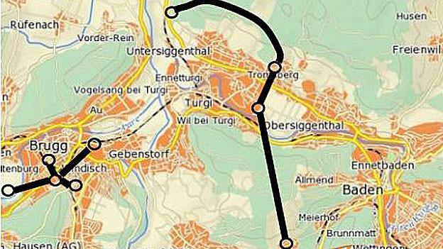 Viele Tunnels, deshalb extrem teuer – des Baldeggtunnel
