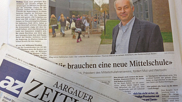In der AZ ist die Forderung nach einer neuen Kantonsschule zu lesen.