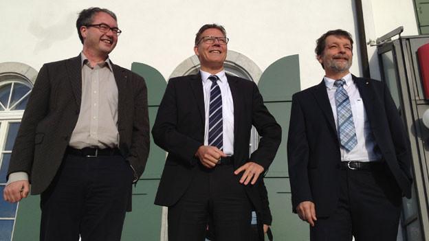 Die drei neuen Solothurner Regierungsräte Ankli, Fürst und Heim