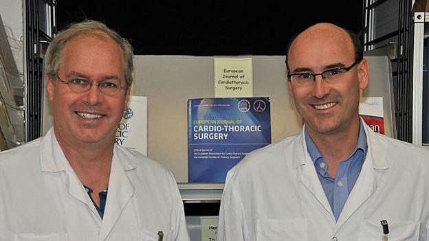 Thierry Carrel und Lars Engelberger leiten neu die Herzchirurgie an der Hirslanden-Klinik Aarau.