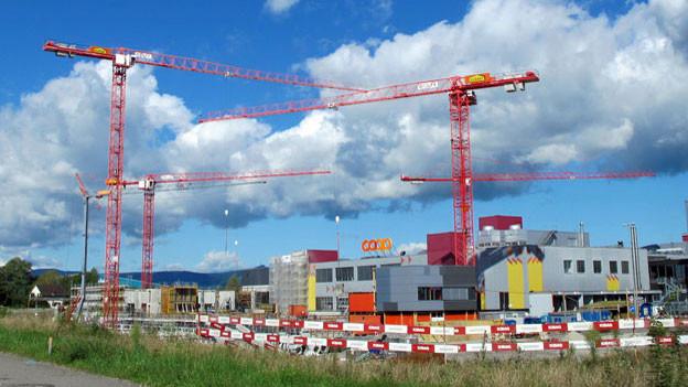 Auf dieser Baustelle vermutet die Gewerkschaft Unia Lohndumping.