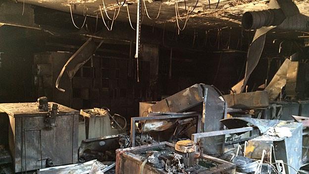 Das Feuer zerstörte die Galvanik-Abteilung der Uhrenfirma Eta in Grenchen.