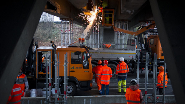 Die Brücke ist abgestützt – die Aufarbeitung beginnt jedoch erst.