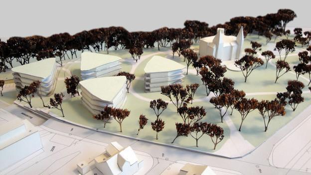 Die geplante Überbauung im Schlosspark von Bad Zurzach ist umstritten