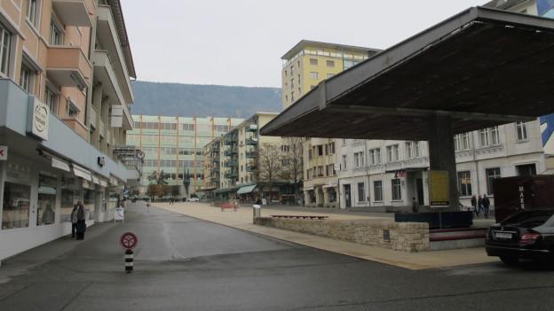 Das Stadtzentrum von Grenchen könnte mit dem warmen Abwasser aus dem Eisenbahntunnel geheizt werden.