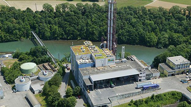 Luftaufnahme der Kehrichtverwertungsanlage Turgi.