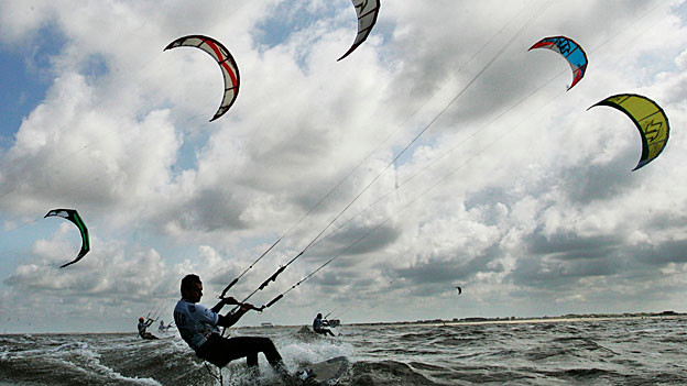 Kite Surfer in Aktion