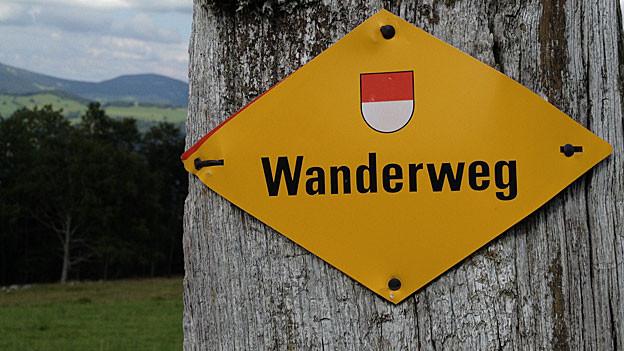Wegweiser auf dem Weissenstein