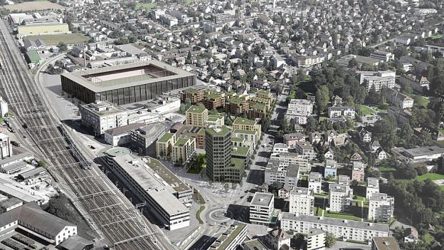Quartier-Visualisierung Torfeld Süd Aarau