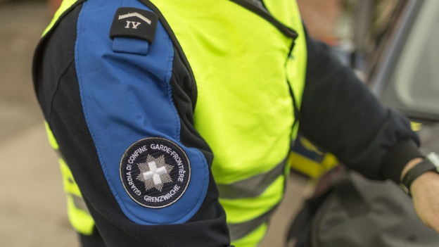Grenzwächter in Grossaufnahme