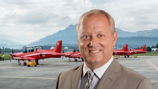 Peter Brotschi will mit seinen Ratskollegen den Flughafen Emmen besuchen