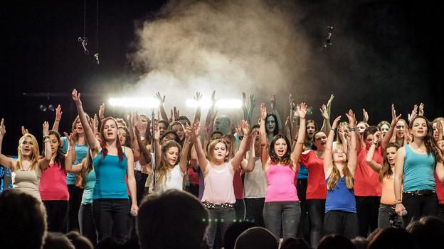 Eine erste Kostprobe des Jugendchors gab es beim Sponsorenkonzert am Freitagabend