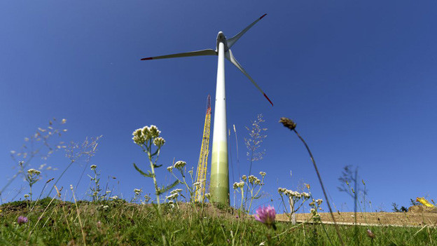 Windkraftwerk im Entlebuch.