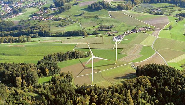 So soll der Windpark bei Kirchleerau aussehen