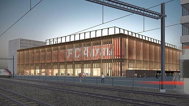 Wenn alles nach Plan läuft, dann kann das neue Aarauer Fussballstadion Torfeld Süd 2016 eröffnet werden.