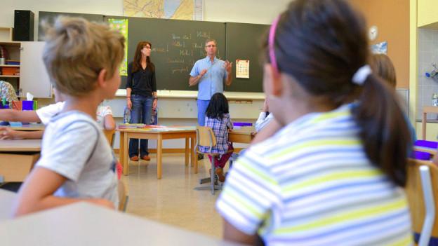 Schulklasse beim Unterricht.