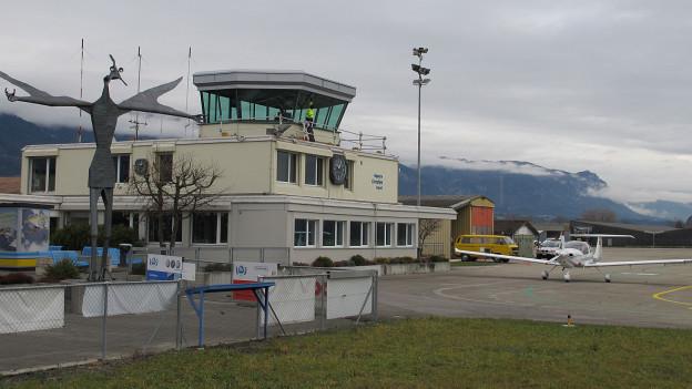 Tower des Flughafens Grenchen