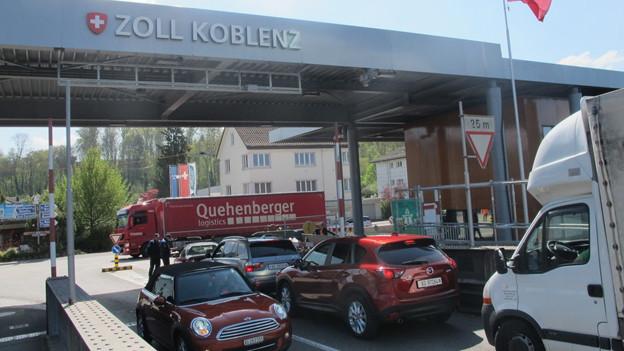 Der Grenzübergang in Koblenz schliesst.