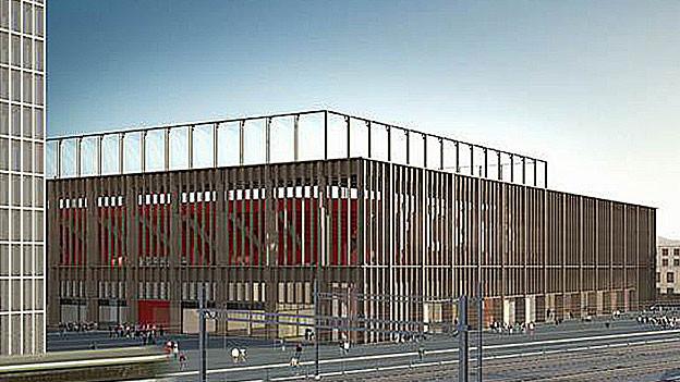 Visualisierung des Stadions.